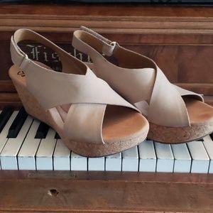 Clark's Annadel Suede Wedge Sandals